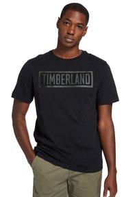 Timberland - MINK BROOK LINEAR LOGO - Print T-shirt - white - 0