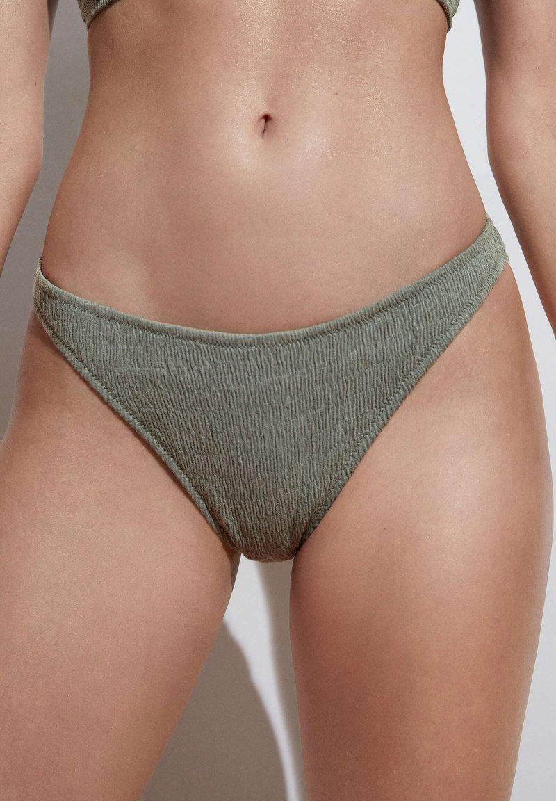 OYSHO - CLASSIC - Bikini bottoms - green