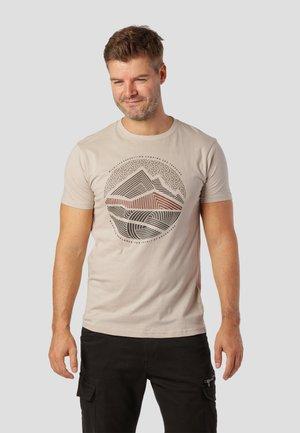 T-shirt print - bubbly beige