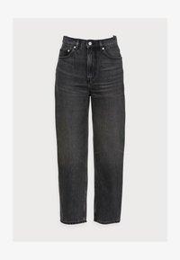 CROPPED NIGHT WASH - Straight leg jeans - grey