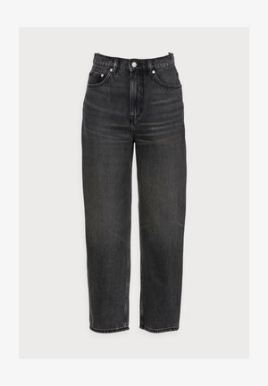 CROPPED NIGHT WASH - Straight leg jeans - grey