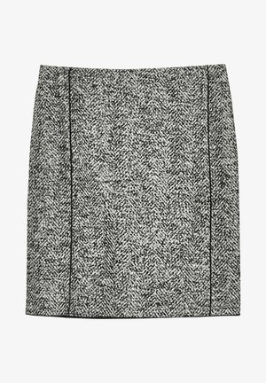 ODENA BOUCLÉ - Mini skirt - anthrazit (14)