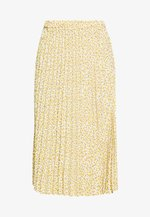 SARINA PLEATED SKIRT - Spódnica trapezowa - white/yellow