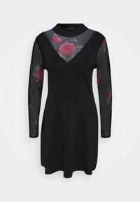 Desigual - VEST TOKIO - Strikket kjole - black - 4