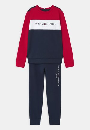 ESSENTIAL COLORBLOCK SET - Tracksuit - blue