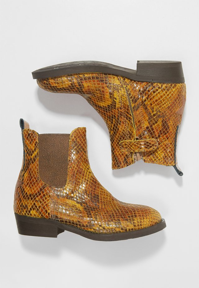 WESTERN - Cowboy/biker ankle boot - yellow
