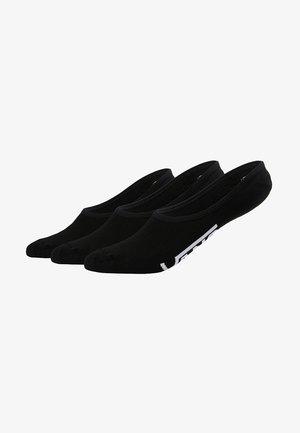 UA CLASSIC SUPER NO SHOW (6.5-9, 3PK) - Trainer socks - black