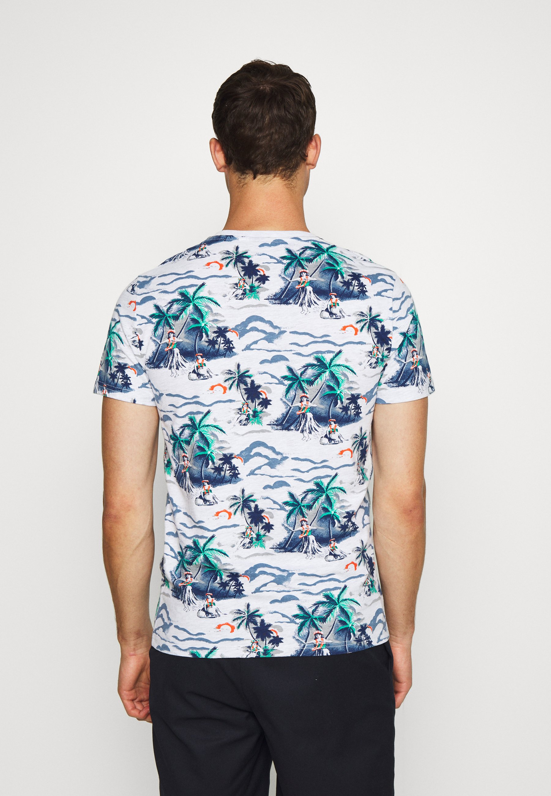Superdry SUPPLY - Print T-shirt - ice marl kJlCS