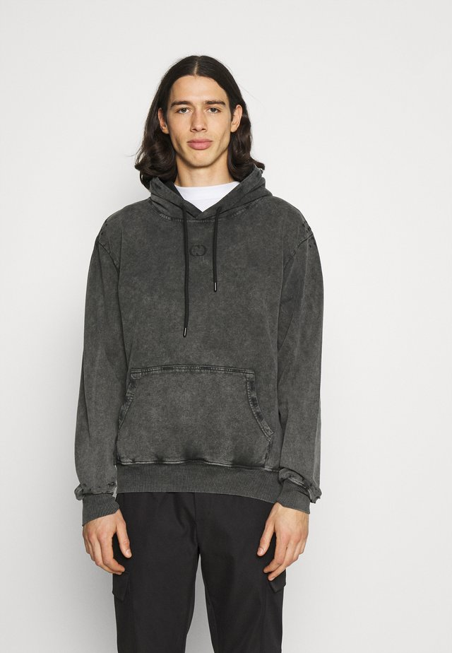 ESSENTIAL DISTRESSED HOOD - Sweatshirts - washed black
