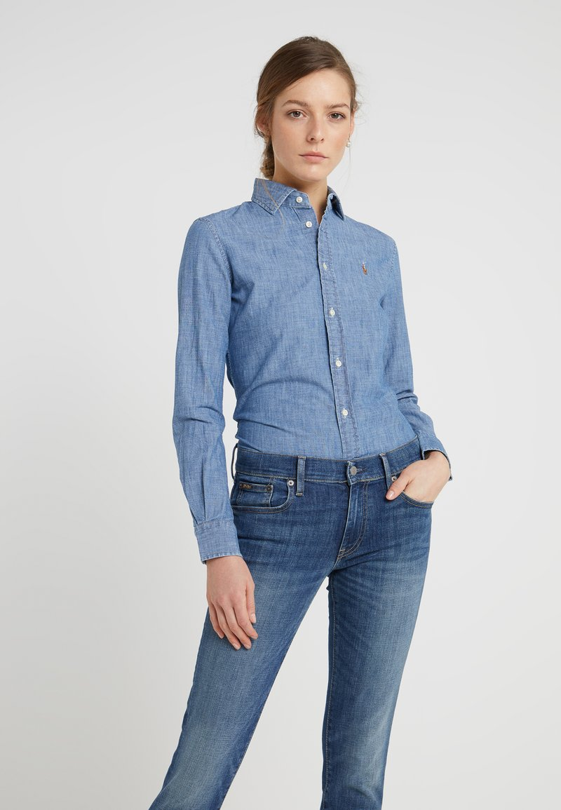 Polo Ralph Lauren - CHAMBRAY  - Button-down blouse - cobalt