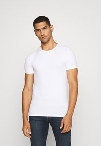 Scotch & Soda - 2 PACK - T-shirt basic - white - 2