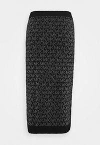 MICHAEL Michael Kors - SKIRT - Pencil skirt - black/silver - 7