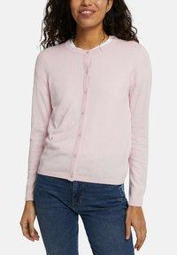 edc by Esprit - CORE ROUND NECK CARDIGAN - Cardigan - light pink - 3