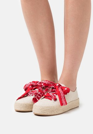 MIMI - Volnočasové šněrovací boty - natural