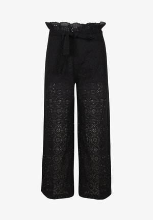 PANTALON BORDADO INGLES - Trousers - black