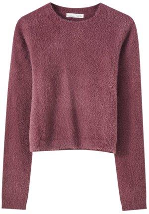 Sweter - mottled pink