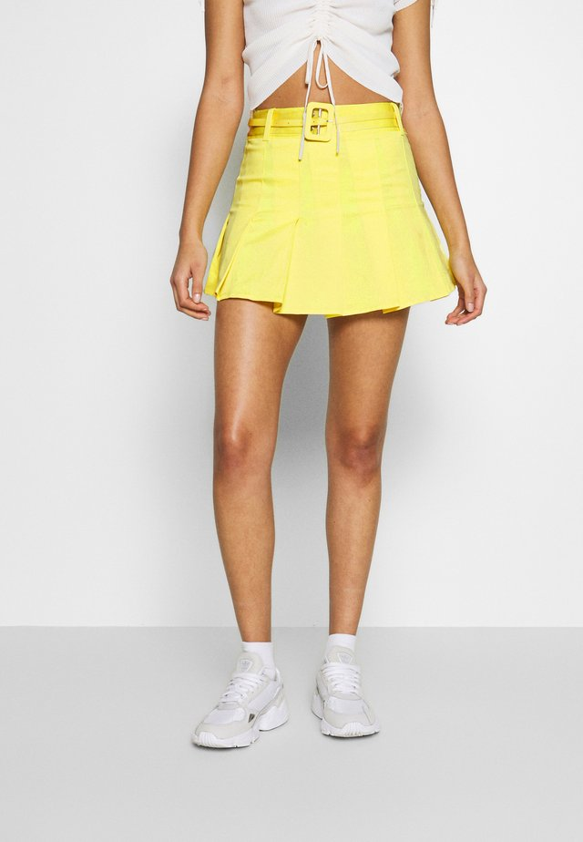 DUA LIPA X PEPE JEANS  - Pleated skirt - lemon