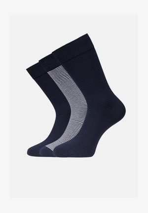 Socks - white navy