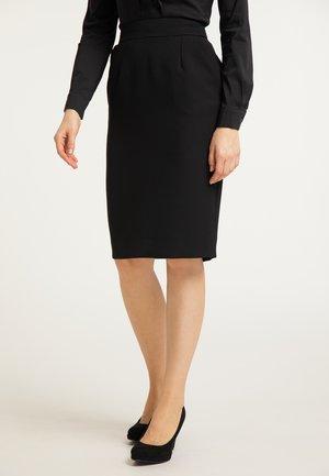 BLEISTIFTROCK - A-line skirt - schwarz