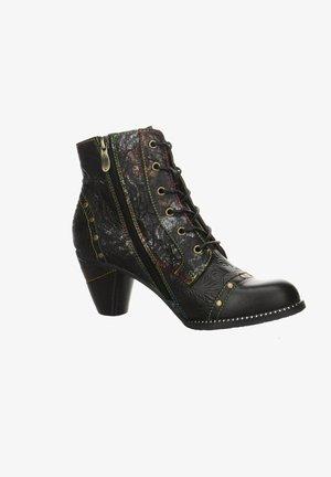 ALCIZEEO - Cowboy/biker ankle boot - schwarz