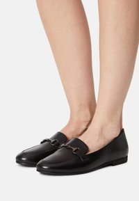Anna Field Wide Fit - LEATHER - Mocassins - black - 0