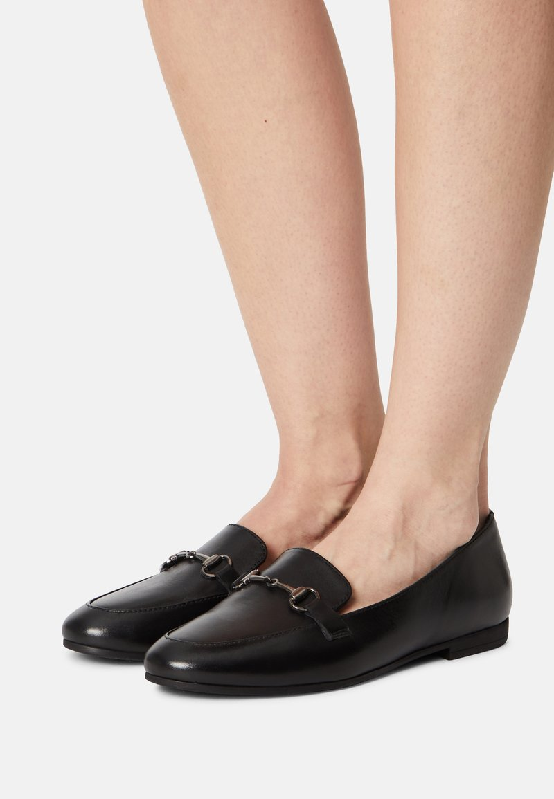 Anna Field Wide Fit - LEATHER - Mocassins - black