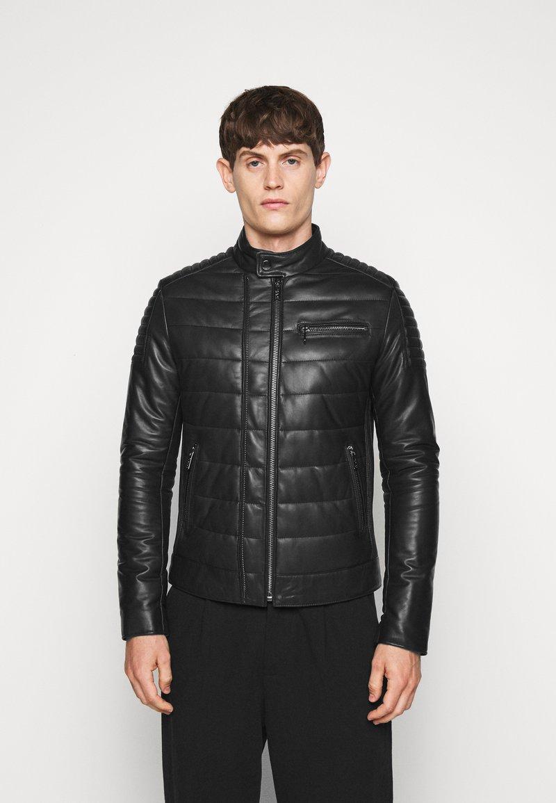 KARL LAGERFELD - BIKER JACKET - Leather jacket - black