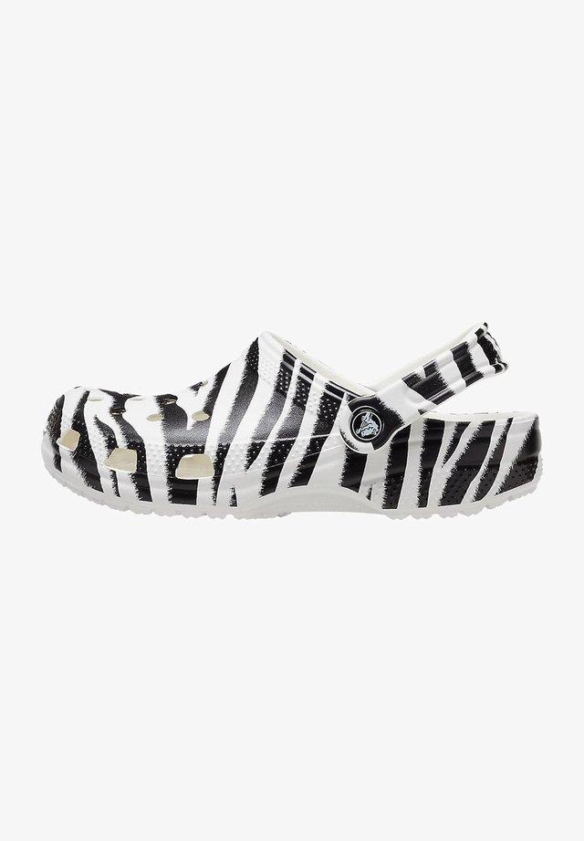 ANIMAL PRINT  - Drewniaki i Chodaki - white / zebra print