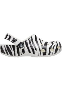 Crocs - ANIMAL PRINT  - Zuecos - white / zebra print - 4
