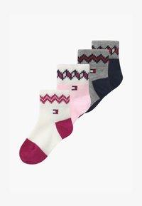 Tommy Hilfiger - FAIRISLE 4 PACK  - Socks - pink - 0