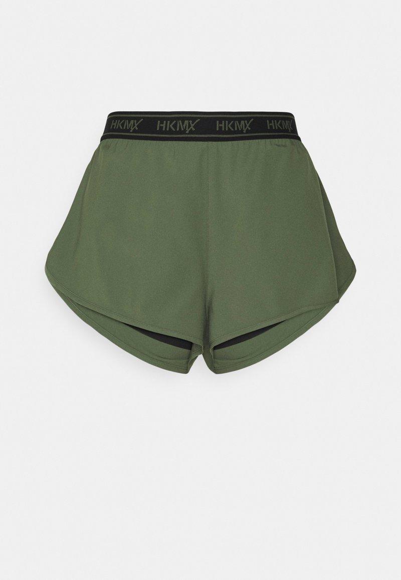 Hunkemöller - RUNNING SHORT BRANDED TAPE - Sports shorts - four leaf clover