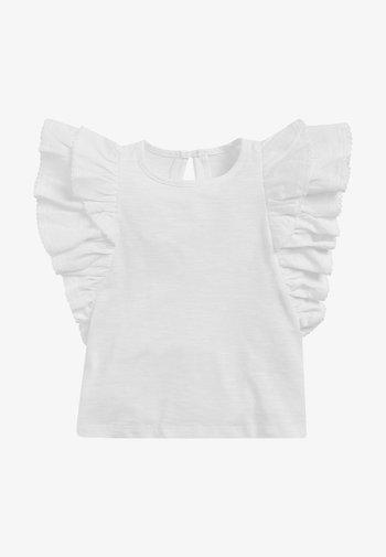 FRILL - Print T-shirt - white