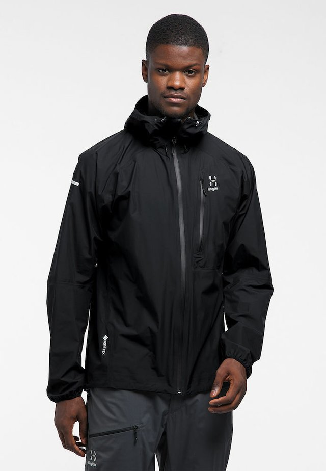 JACKET MEN - Hardshell jacket - true black