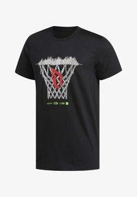 adidas Performance - DAME LOGO T-SHIRT - Print T-shirt - black - 8
