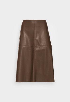 OMALO - A-line skirt - chocolate