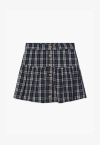 Abercrombie & Fitch - BUTTON THRU - A-line skirt - navy - 0