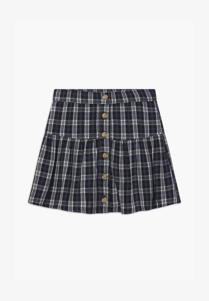 Abercrombie & Fitch - BUTTON THRU - A-line skirt - navy