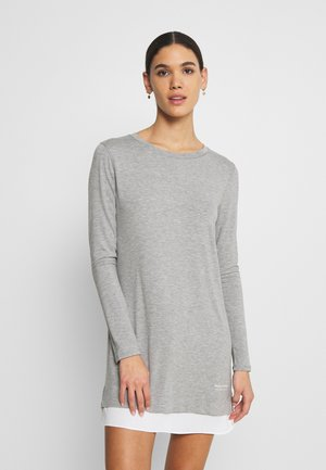 SLEEPSHIRT CREW NECK - Pyjama top - grau