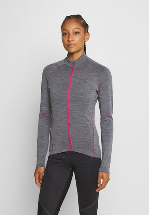 BIKE PACE - Training jacket - grey melange/magenta