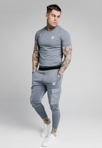 SIKSILK - GYM TEE - Camiseta básica - blue slate - 1