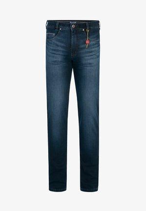 Slim fit jeans - blue black buffies