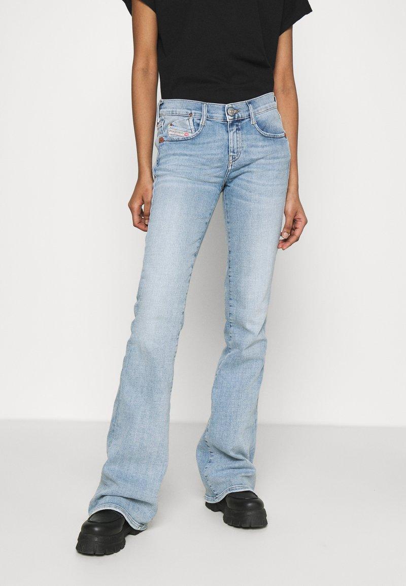 Diesel - D-EBBEY-BS - Flared Jeans - light blue