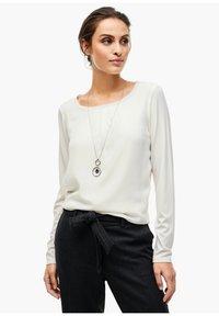 s.Oliver BLACK LABEL - Long sleeved top - soft white - 10