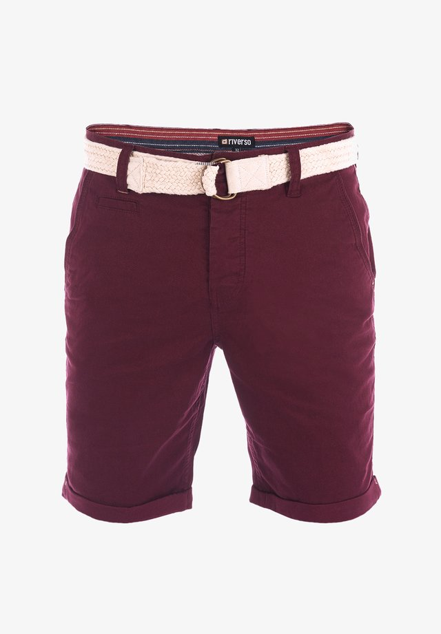 RIVHENRY - Shorts - wine red