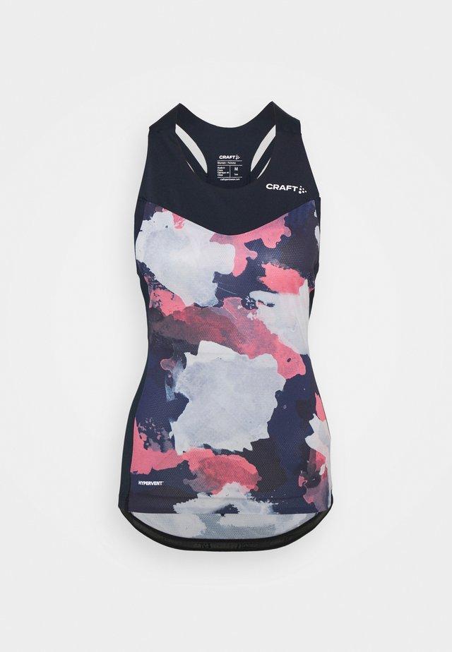 ENDUR SINGLET - Sportshirt - blaze/coral