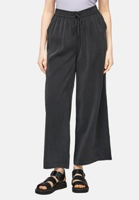 QS by s.Oliver - LOOSE FIT - Trousers - black - 3