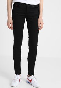 Tommy Jeans - MID RISE NORA - Jeansy Skinny Fit - dana black - 0