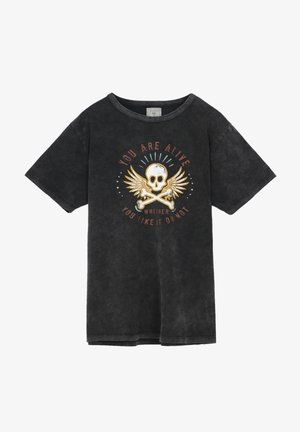 ALIVE TEE - T-shirt print - anthracite