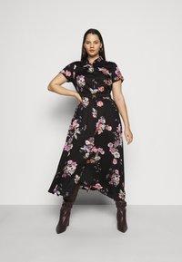 Vero Moda Curve - VMLOVELY  DRESS - Sukienka koszulowa - black - 0