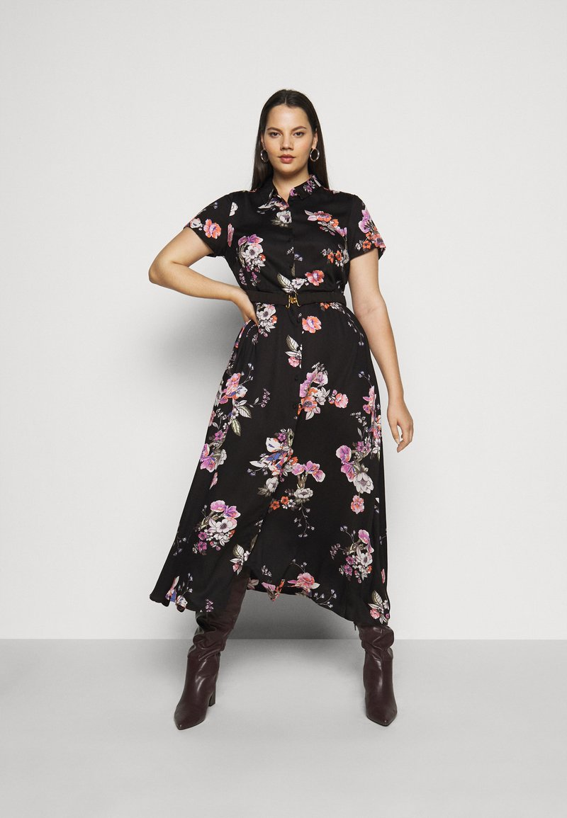 Vero Moda Curve - VMLOVELY  DRESS - Sukienka koszulowa - black